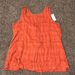 AEO Tiered Tie Back Babydoll Top Size Small NWT